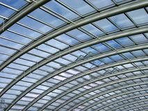 Glass roof. The roof of the national botanical garden of wales greenhouse royalty free stock photos