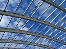 Glass roof. The roof of the botanical garden of wales greenhouse stock image