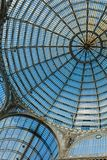 Glass roof and arching dome of Galleria Umberto I - Naples, Campania. Italy royalty free stock photos