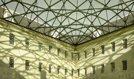 Glass roof on a big building. In Amsterdam, the Netherlands Royalty Free Stock Photos