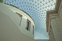 Glass roof of British museum Royalty Free Stock Photos