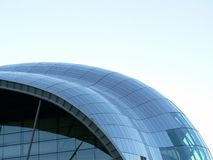 Glass roof building. On  Newcastle quayside Stock Photos