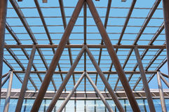 Glass roof of the building Stock Photography