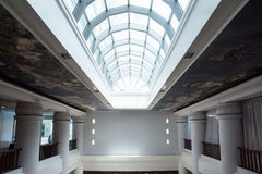 Glass roof in building. In hotel royalty free stock photos