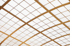 Glass roof of a building. Glass roof of a medieval building stock photography