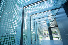 Glass roof corridor Royalty Free Stock Images