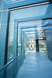 Glass roof corridor Stock Images
