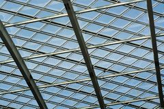 Glass Roof and Curtain of Greenhouse royalty free stock photo