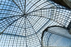 Glass roof dome provides light through, heat dissipation Stock Photos