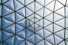 Glass roof of greenhouse Royalty Free Stock Image
