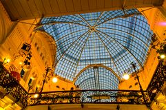 Glass roof of GUM - The Shopping Center in Red Square, Moscow, Russia royalty free stock photos
