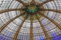 Glass roof Lafayette department store in Paris, France Royalty Free Stock Images