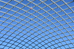 Glass roof of Leeds Trinity Shopping Mall. The spire of Holy Trinity Church through the glass roof of Leeds Trinity Shopping Mall Stock Image