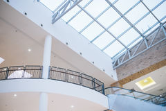 Glass roof of the mall. Inside view Royalty Free Stock Photo