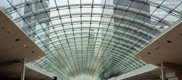 Glass Roof Mall Stock Images