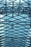 Glass roof on a metal frame Stock Image