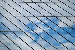Glass roof Mirror Reflection On Sky and cloud royalty free illustration