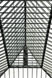 Glass roof. Modern glass roof in black and white tones Stock Photo