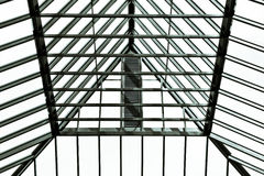 Glass roof. Modern glass roof in black and white tones Stock Photography