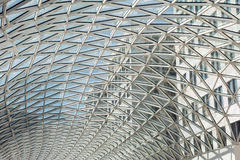 Glass roof of modern building Stock Images