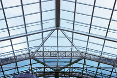 Glass roof. Of modern building Stock Photo