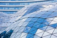 Glass roof in modern building Royalty Free Stock Images