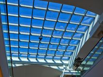 Glass roof of modern building royalty free stock photography