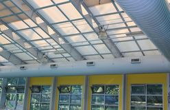 Glass roof of a modern building Royalty Free Stock Photo