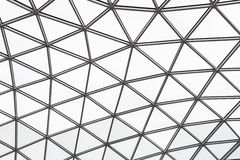 Glass roof of a modern building. Overlapping roof of the building Royalty Free Stock Photos