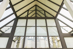 Glass roof of modern office building Stock Photo
