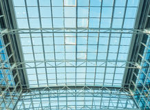 Glass roof of modern office building Royalty Free Stock Photos