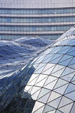 The glass roof of a modern shopping mall. Warsaw, Poland - February 28, 2016: The glass roof of a modern shopping mall called Golden Tarraces (Zlote Tarasy) is a Royalty Free Stock Photography