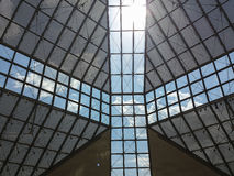 Glass roof of MUDAM museum in Luxembourg 1 Royalty Free Stock Photo