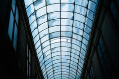 Glass roof of an old passage in Paris Royalty Free Stock Images