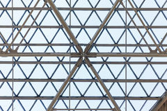 Glass roof and the pattern Royalty Free Stock Photo