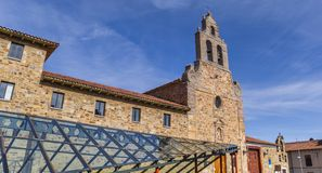 Glass roof and San Francisco church in Astorga Stock Photography
