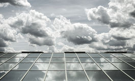 Glass roof sky Royalty Free Stock Image