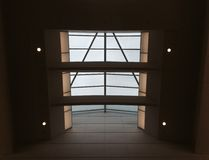 Glass roof and 4 spotlights Royalty Free Stock Photography