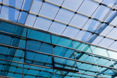 The glass roof of the station in sunlight Royalty Free Stock Photos