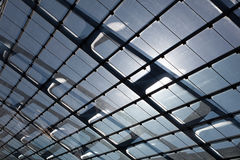 The glass roof of the station in sunlight Royalty Free Stock Photography