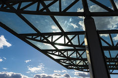 The glass roof of the station in the sunlight Stock Image