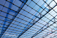The glass roof of the station in sunshine Stock Photography