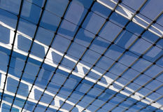 The glass roof of the station in the sunshine Royalty Free Stock Image