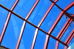 The glass roof structure Royalty Free Stock Photography