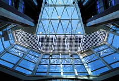 Glass roof structure Stock Images