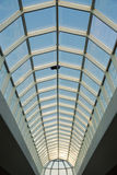 Glass roof structure in west edmonton mall Royalty Free Stock Photography