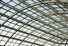 Glass roof structure in west edmonton mall Royalty Free Stock Photos
