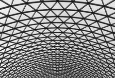 Glass roof. With a triangular metal structures Stock Images