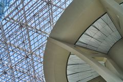 Glass roof of the airport. Glass roof of Vnukovo airport Stock Photos