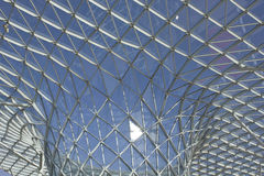 Glass roofing of Milano Fiera Royalty Free Stock Photo